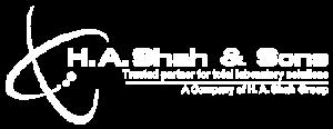 H.A.Shah logo white